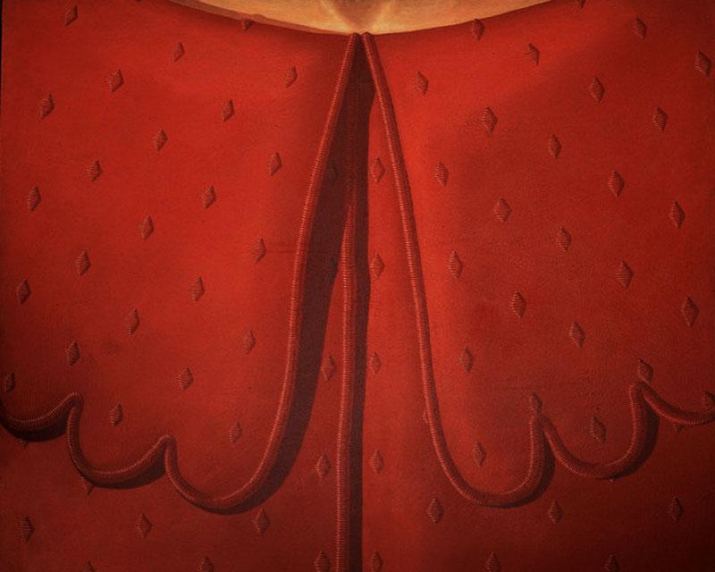 Red Dress Collar - Domenico Gnoli